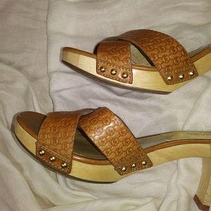 Michael Kors Shoes - MK Michael Kors leather heel sandals